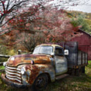 Rusty Chevy Pickup Truck Art Print