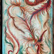 Rusty Feathers Art Print