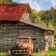 Rusty Ford At The Barn Art Print