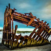 Rusty Forgotten Shipwreck Art Print
