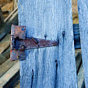 Rusty Hinge In The Blue Of The Evening Art Print
