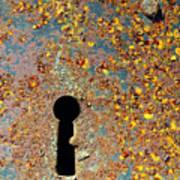 Rusty Key-hole Print by Carlos Caetano