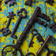 Rusty Keys Art Print
