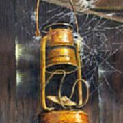 Rusty Lantern Print by Bob Hallmark