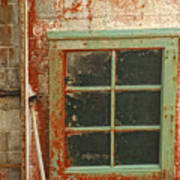 Rusty Lighthouse Window Art Print