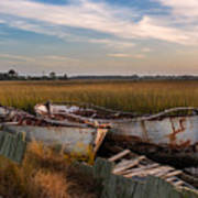 Rusty Lowcountry Boats Art Print