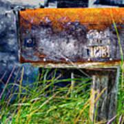 Rusty Mailbox Art Print