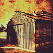 Rusty Outback Australia Shed Art Print