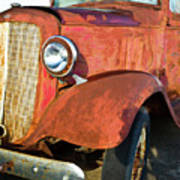 Rusty Red Chevrolet Pickup Truck 1934 Art Print