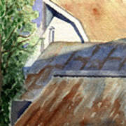 Rusty Roofs Art Print