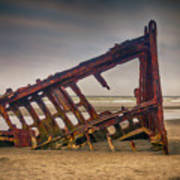 Rusty Shipwreck Art Print