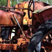 Rusty Tractor Art Print
