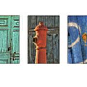 Rusty Triptych Art Print