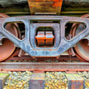 Rusty Wheels Art Print