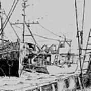 Rv Chain And Uscgss Whiting  Art Print