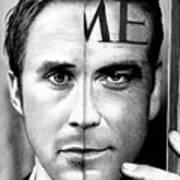 Ryan Gosling And George Clooney Art Print