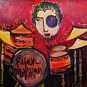 Ryan Macmillan And His Drums Art Print