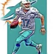 Ryan Tannehill Miami Dolphins Oil Art Art Print
