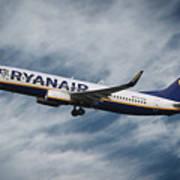 Ryanair Boeing 737 Art Print