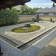Ryogen-in Zen Rock Garden - Kyoto Japan Art Print
