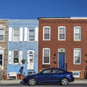 S Baltimore Row Homes - Wide Art Print