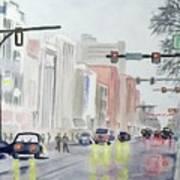 S. Main Street In Ann Arbor Michigan Art Print