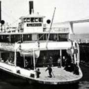 S. P. Ferry Alameda At San Francisco Circa 1940 Art Print