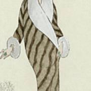 Sable Coat With White Fox Trim Art Print