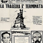 Sacco And Vanzetti Front Page Art Print