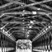 Sachs Bridge - Gettysburg - Bw-hdr Art Print