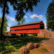 Sach's Covered Bridge Art Print by Lois Bryan