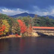 Saco River Covered Bridge Storm Art Print