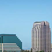 Sacramento California Cityscape Skyline On Sunny Day Art Print