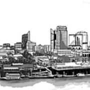 Sacramento Skyline N. Art Print