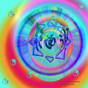 Sacred Healing Rays Of Cho Ku Rei Art Print