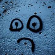 Sad Graffiti Art Print
