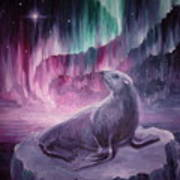 Sad Lonely Seal Art Print