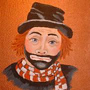 Sad Sack The Clown Art Print