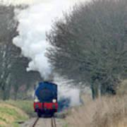 Saddle-tank Locomotive Puffing Uphill Art Print
