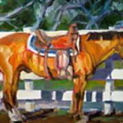 Saddled Art Print