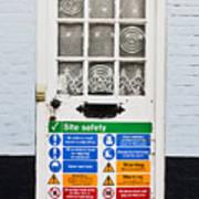 Safety Sign Art Print