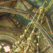 Sage Chapel Ceiling And Light Art Print