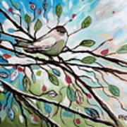 Sage Glimmering Songbird  Art Print
