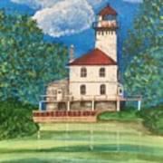 Saginaw River Light Art Print