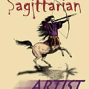 Sagittarian Artist Art Print