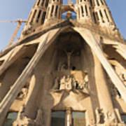 Sagrada Familia Church In Barcelona Antoni Gaudi Art Print by Matthias Hauser