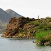 Saguaro Lake Shore Art Print