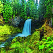 Koosa Falls, Oregon Art Print