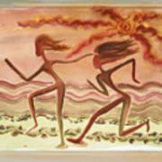 Saharan Runners Art Print