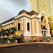 Saigon's Opera House Vietnam Art Print